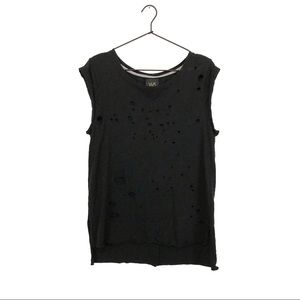 W5 Distressed Muscle Tank
